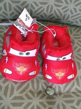 Boys Disney Cars Lighting McQueen Slippers Red Size S 5-6 Toddler