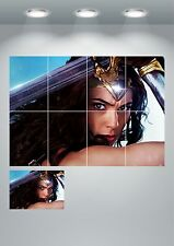 Wonder Woman Giant Wall Art Poster Print - A3 / A4 Sections or Giant 1Piece