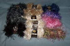 Lion Brand FUN FUR PRINTS EYELASH YARN Skeins, Polyeser, CHOOSE FROM 8 COLORS