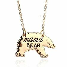 Cartoon Gift Mother's Day Jewelry Alloy Chain Pendant Necklace Mama Bear