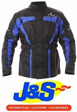 SPARTAN J14 TEXTILE MOTORCYCLE JACKET MOTORBIKE TOUR WATERPROOF BLACK/BLUE J&S