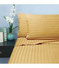 Top Quality Bedding Collection 100%Pima Cotton 1000 TC Gold Stripe  UK
