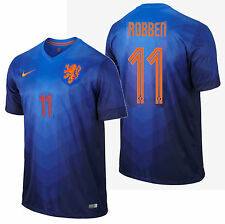 NIKE ARJEN ROBBEN NETHERLANDS AWAY JERSEY WORLD CUP BRAZIL 2014.