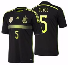 ADIDAS CARLES PUYOL SPAIN AWAY JERSEY FIFA WORLD CUP BRAZIL 2014.
