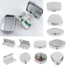 Metal Pill Box Medicine Vitamin Tablet Holder Organizer Container Case Storage