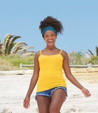 Fruit of the Loom Lady Fit Rib Strap Vest All Sizes and Colours