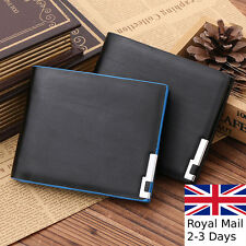 Luxury Mens BLACK QUALITY Soft Leather Wallet Credit Card Holder Purse NEW