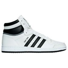MENS ADIDAS TOP TEN HI WHITE/BLACK CASUAL SHOES MEN'S SELECT YOUR SIZE