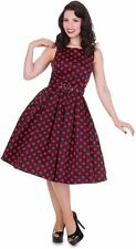 Dolly & Dotty Annie 50s Black & Red Polka Dot vintage style DRESS 8-24 Pin Up