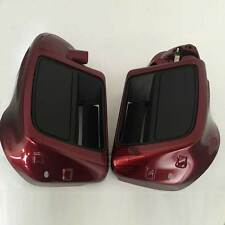 Pre-assembled Velocity Red Sunglo Lower Vented Leg Fairings For Harley14-17