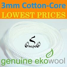 GENUINE EKOWOOL Cotton-Core Braided Silica Wick 3mm Authorized Distributor