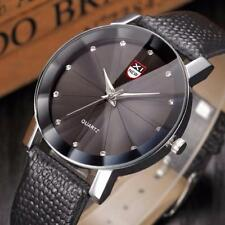 Men Luxury Stainless Steel Quartz Military Sport Leather Analog Date Wrist Watch