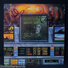 IRON MAIDEN-Autographed WASTED YEARS Album By Bruce Dickinson, Steve, Dave+Paul