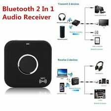 Promotion Bluetooth 2 In 1 Audio Receiver Transmitter 3.5mm Stereo Port LOT BE