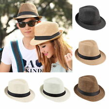 Hot Unisex Fedora Trilby Hat Cap Straw Panama Style Packable Travel Sun Hat~RE