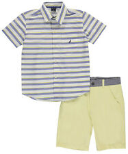 """Nautica Little Boys' Toddler """"Style Lines"""" 2-Piece Outfit (Sizes 2T - 4T)"""
