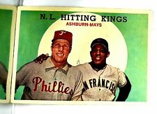 1959 Topps Willie Mays #317 NL Hitting Kings Mays, Ashburn, Bullseye Centering