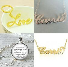 SEX AND THE CITY CARRIE BRADSHAW NECKLACE  QUOTE PENDANT SJP