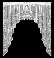 """Heritage Lace Sheer Divine 88"""" x 63"""" Swag Pairs and 84"""" Panels"""