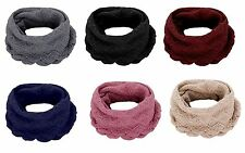 New Womens Ladies Thick Knitted Winter Warm Cable Snood Scarf Wrap Shawl Detail