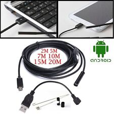 Waterproof 6LED USB Android Endoscope Borescope Snake Inspection Camera Scope SG