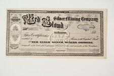 Ely, Nevada ~ RED CLOUD SILVER MINING CO. ~ **rare mining stock** (c1870's)