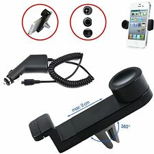 CAR AIR VENT MOUNT 360° HOLDER STAND+CHARGER FOR VARIOUS 2014-15 SMARTPHONES