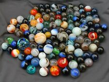 Lot of 133 old vintage antique marbles from an old collection