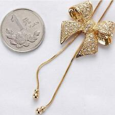 Stylish Chain Bowtie Pendant Butterfly Women's Luxury Bowknot Necklace