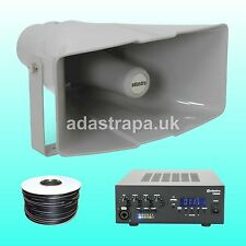 """Adastra 60W Outdoor Event PA Public Address System 16"""" X 8"""" 40W rms Horns"""