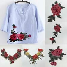 DIY Multi Style Embroidered Applique Floral Patch Sewing Trim Dress Decor