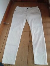 EDC ESPRIT DENIM DRY GOODS WHITE SLIM LEG STRETCH COTTON JEANS 16 (44) BNWOT