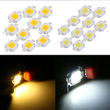 10Pcs Cool/Warm White 10W DC 9-12V Super Bright LED Light Chip Bulb SMD Chip HG