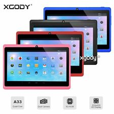XGODY 7'' Tablet PC 8GB Quad Core for kids Android4.4 Dual Cam HD WIFI Bluetooth