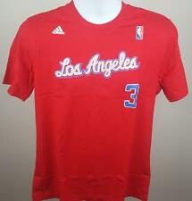 NBA TEE LA CLIPPERS CHRIS PAUL CP3 ADIDAS #3 GAME TIME TEE T-SHIRT RED