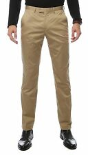 Zonettie Mens Kilo Straight Leg Chino Pants Formal Dress Attire, Khaki