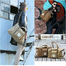 Weekend Overnight Bag Canvas Travel Tote Bag Briefcases Shoulder Messenger Bag