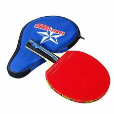 Table Tennis PingPong Rubber Racket Paddle Bat Blade Long Handle + Carring Bags