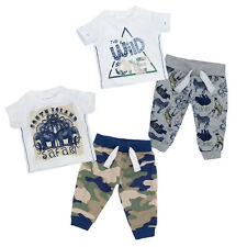 Baby Boys Safari Jungle Camouflage T-Shirt & Jogpants Set 2 Piece Joggers Outfit