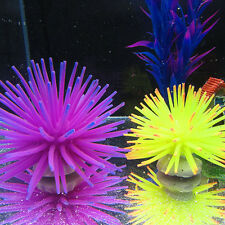 Silicone Aquarium Fish Tank Artificial Coral Plant Underwater Ornament Decor TO