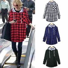 Unisex Kanye Hipster Plaid Loose Shirt High Street Fashion Swag Outwear Hip Hop