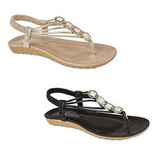 LADIES, WOMEN FLAT TOE POST ELASTIC SLINGBACK SANDAL FOR ALL OCCASIONS SHALIMAR