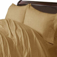 US CAL KING- TAUPE STRIPE 1000TC EGYPTIAN COTTON US BEDDING COLLECTION