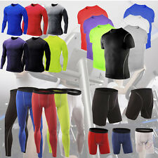 Mens Compression Baselayer Body Armour Thermal Skins T-Shirt Tight Gear Top Pant