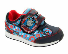 BOYS OFFICIAL THOMAS THE TANK ENGINE NAVY BLUE TRAINERS SHOES INFANTS SIZE 5-10