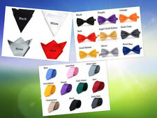 Mens Wedding Party Prom Plain Satin ●Necktie ●Bow Tie ●Square Hanky Handkerchief