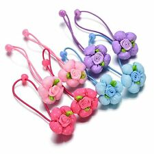 20pcs/lot Baby Girl Kids flower Hair Bands rope Elastic Ties Ponytail Holder