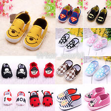 Newborn Infants Toddler Baby Soft Sole First Crib Shoes Prewalkers Boots Loafers