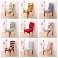 1x Super Fit Stretch Short Dining Room Chair Covers Slipcover Protector 9 Types