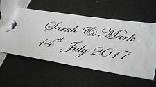 1-50 Personalised Wedding Favour Gift Tags - White, Ivory - Personalised Text